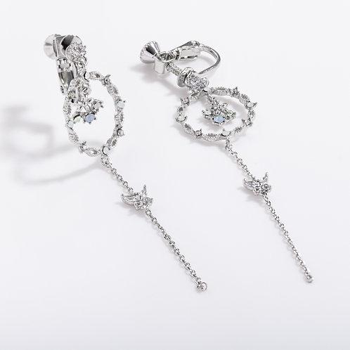 MOOII Crystal Flower Long Earring