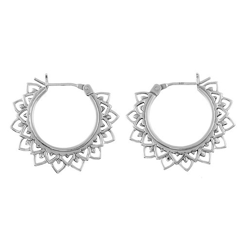 Sterling Silver Sol Flare Hoops