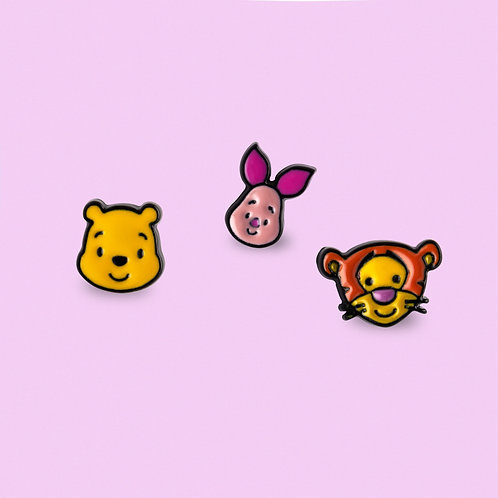 Disney Ear Studs -Pooh, Piglet and Tigger