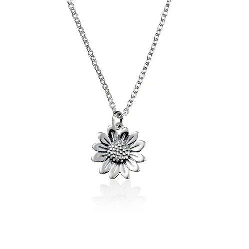 Blossoming Sunflower Sterling Silver Choker