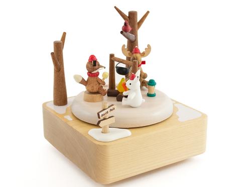 Wooderful Life Winter Camping Music Box