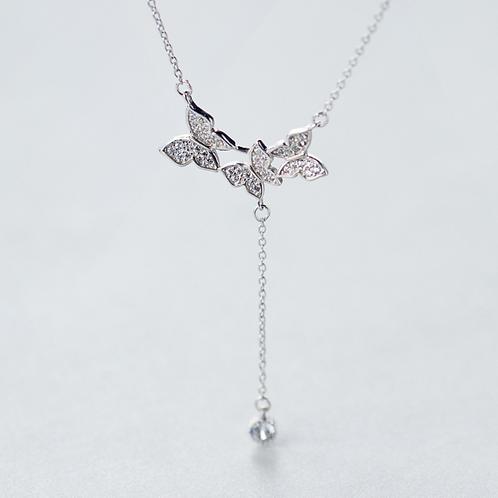 Butterflies Drop Choker Necklace - MOOII