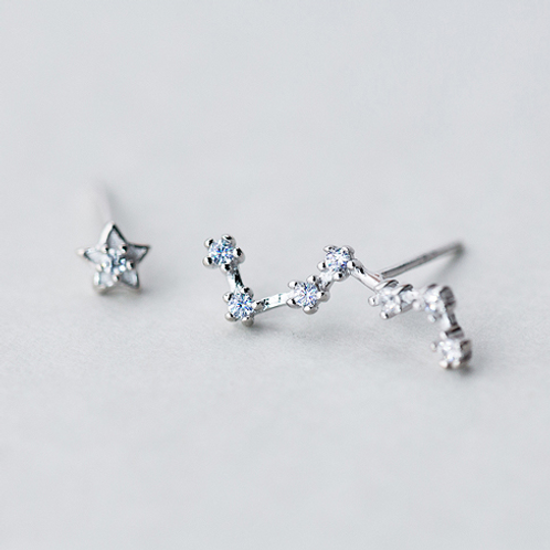 Big Deeper Sterling Silver Ear Studs - MOOII