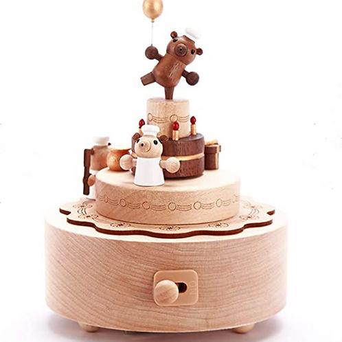 Wooderful Life Bear Cake The Magic Flute Music Box