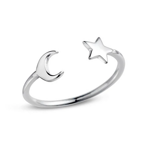 Take Me to the Moon Sterling Silver Ring