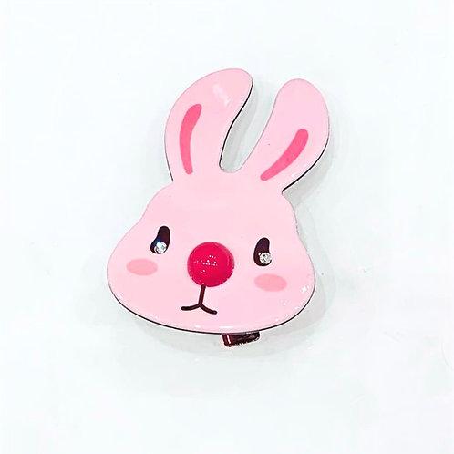 MOOII Resin Hair Clip Pink Bunny