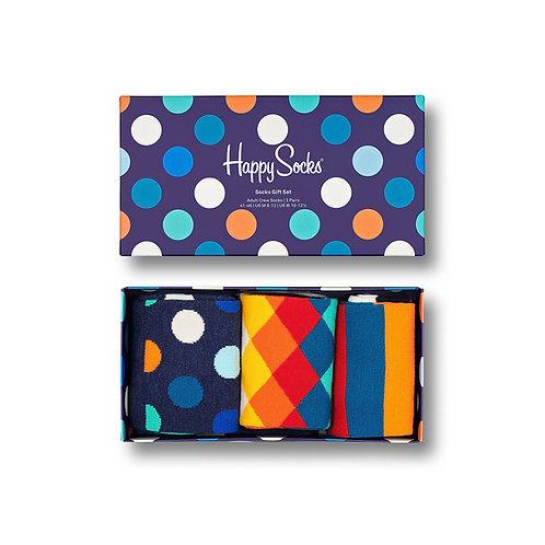 Happy Socks Gift Set Classic Multi-Colour (6000) 3-Pack
