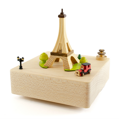 Wooderful Life Eiffel Tower Music Box