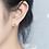 Thumbnail: All Silver Little Cherry Ear Studs