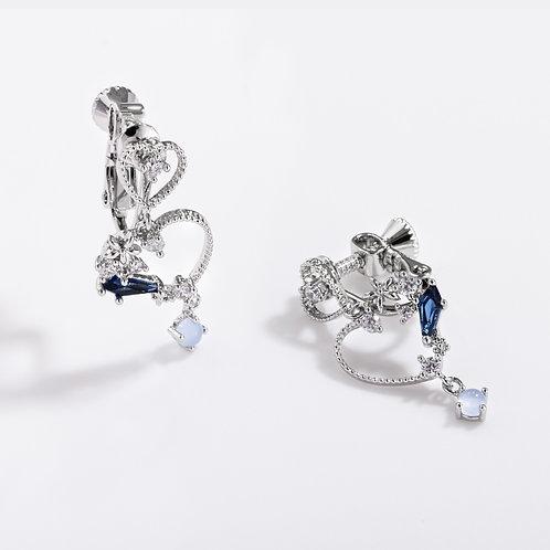 MOOII Crystal Dangle Clip on Earrings