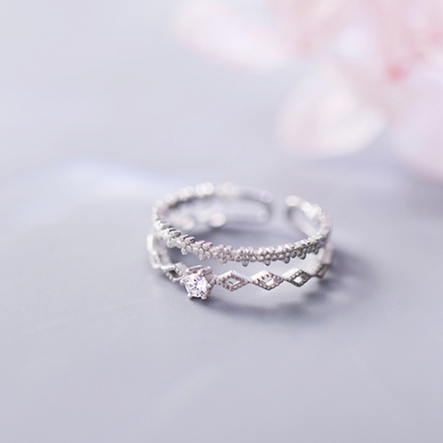 Clear Doubleline Ring - MOOII