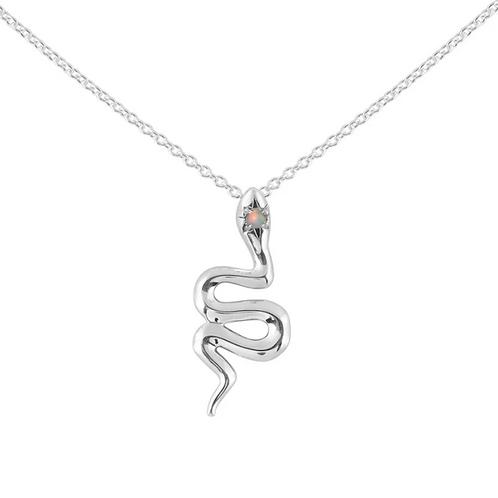 Divine Serpent Opal Sterling Silver Necklace