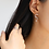 Thumbnail: Cubic Zirconia Crescent Moon and Crystal Drop Small Earrings