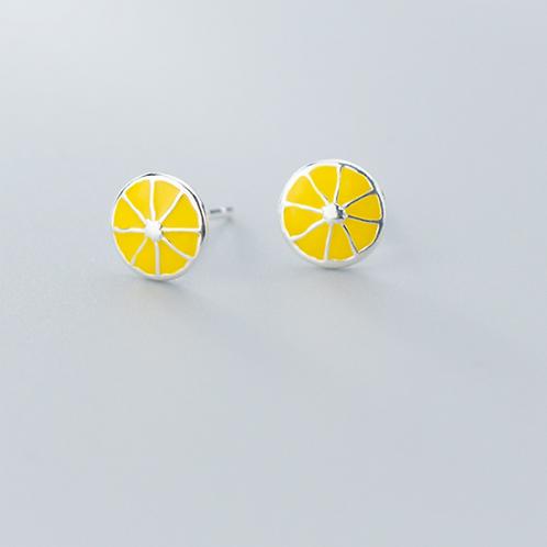 Lemon Slice Ear Studs