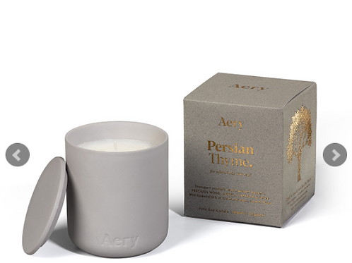 Aery Living: Fernweh Matte Ceramic Candle With Lid