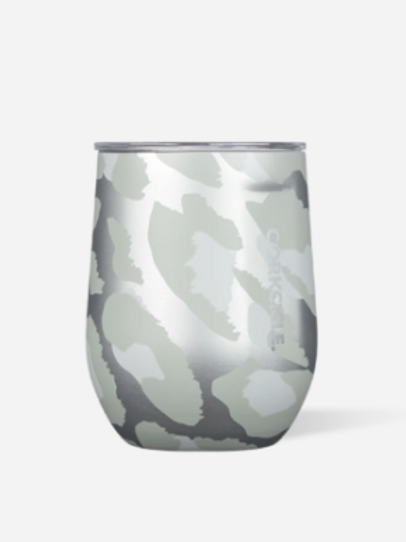 Corkcicle: Exotic Stemless 355ml - Snow Leopard