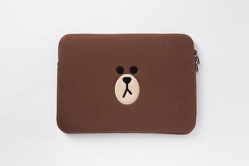 Linefriends Brown Laptop Case