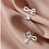 Thumbnail: Elegant Bow with Drop 925 Silver Earring - Mooii