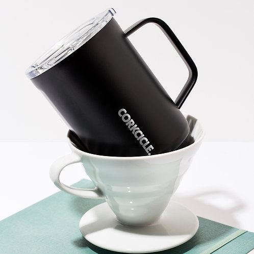 Corkcicle Classic Mug 475ml - Black Insulated Stainless Steel Mug