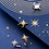 Thumbnail: Sparkling Stars Diamond Sterling Silver Ear Cuff - MOOII