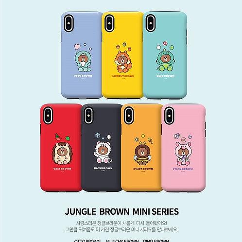 Line Friends Mini Jungle Brown Guard Up Case