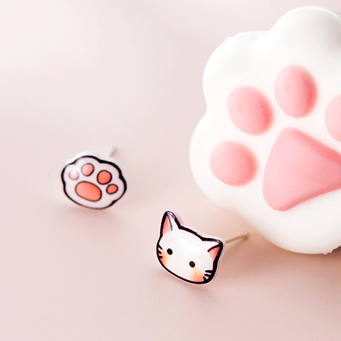 Little Kitten and Paw Ear Studs