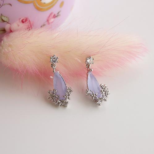 Water Drop Crystal Earrings - MOOII