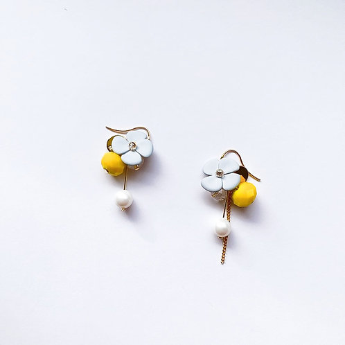 Blue Clover with Yellow Drop Earring - MOOII