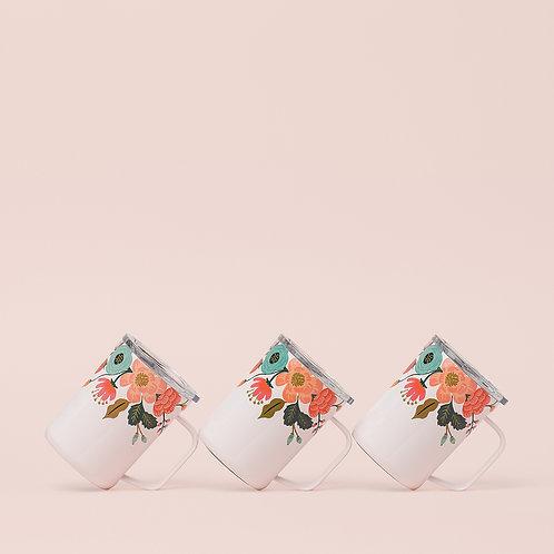 Corkcicle Rifle Paper Mug 475ml - Cream Lively Floral