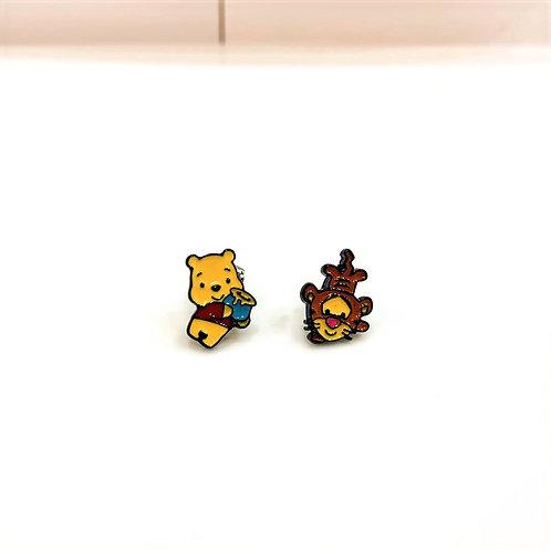 MOOII Ear-Stud Winnie Pooh and Tiger