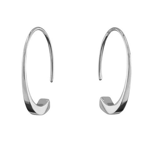 Oscillate Sterling Silver Hoop Earrings