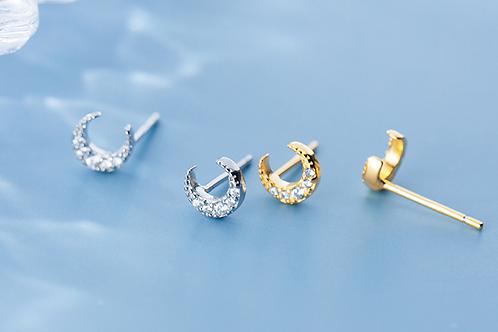 Neo-Moon Sparkling Diamond Ear Studs - MOOII