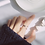 Thumbnail: Geometric Crossover Sterling Silver Ring - MOOII