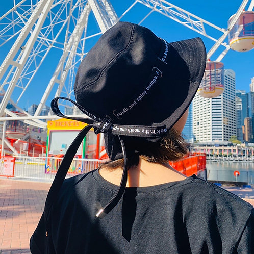Korean Design Fashion Fisherman Hats with String