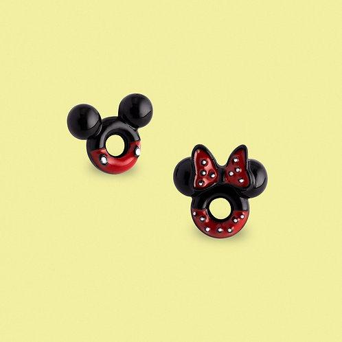 MOOII Disney Ear-Stud Mickey and Minnie Circle