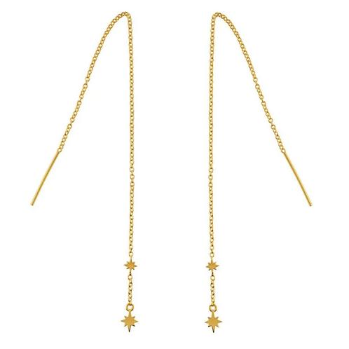 Gold Celestial Sterling Silver Threader Earrings