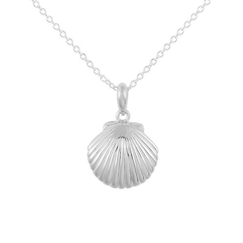 Seashell Locket Sterling Silver Necklace