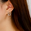 Thumbnail: Neo-Moon Small Orbit Floral Earring