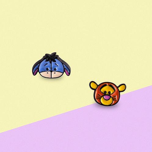 MOOII Disney Ear-Stud Eeyore and Tiger