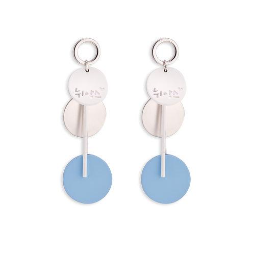 Blue Circle Dangle Earring - MOOII