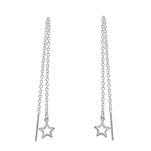 Lone Star Sterling Silver Threader Earrings