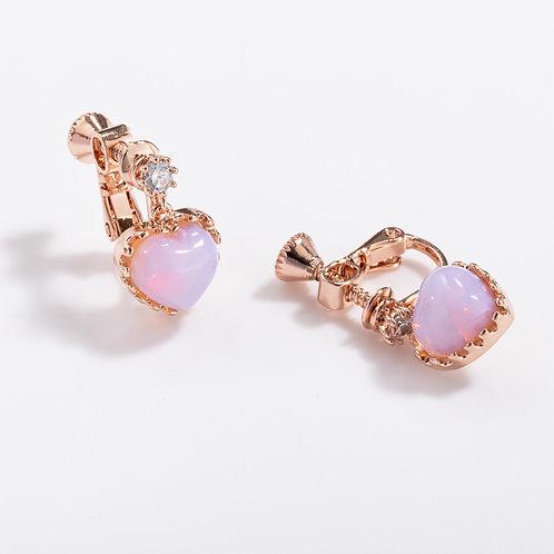 Multi-Colour heart shape Clip on Earrings