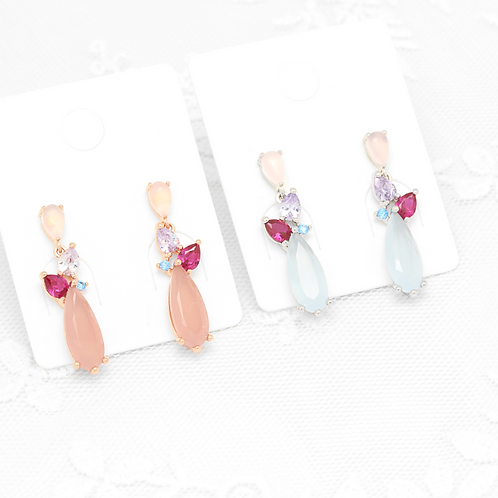 Multi-Colour Water Drop Earring