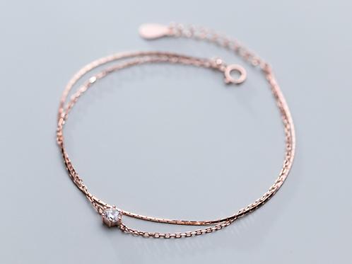 CZ Double Layered Bracelet - MOOII
