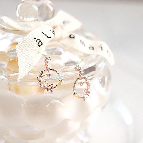 Lily Flower Wreath Earring - MOOII