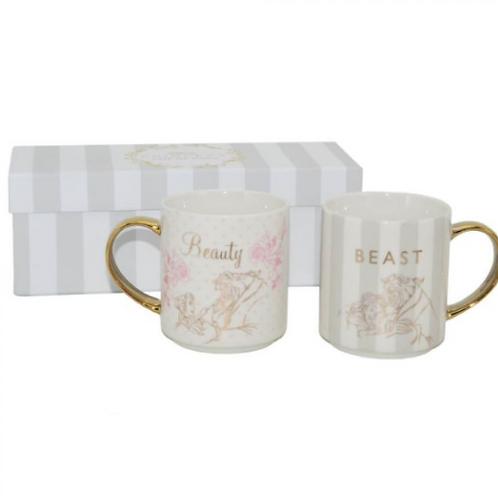 Wedding Mug: Beauty and the beast set