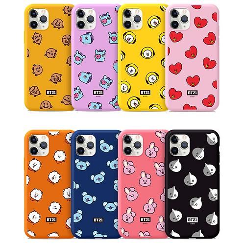 BTS BT21 Official Figure Phone Case Cover Color Jelly Case LINE FRIENDS