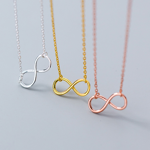 Sterling Silver Infinity Necklace - MOOII