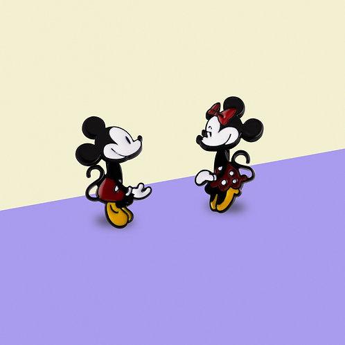 MOOII Ear-Stud Mickey and Minnie