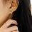 Thumbnail: Hexagonal lattice Pearl Drop Ear Studs - MOOII